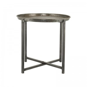 Table basse ronde acier brut style industriel House Doctor Cool D 56 cm