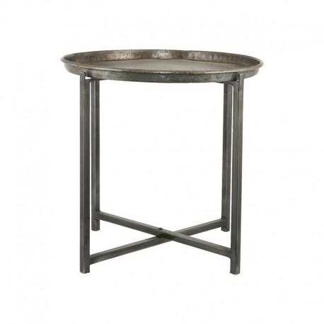 house doctor cool table basse ronde acier brut style industriel Pr0300