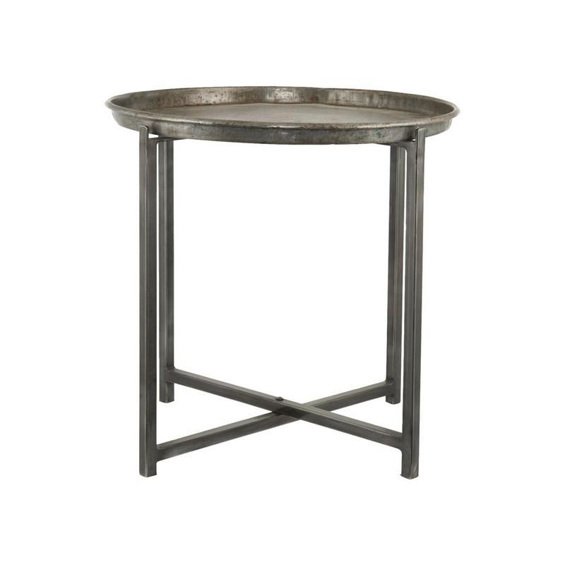 house doctor cool table basse ronde acier brut style. Black Bedroom Furniture Sets. Home Design Ideas