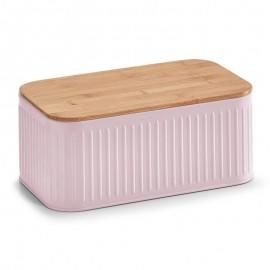 Boîte à pain cuisine métal rose pastel Zeller
