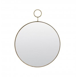 Miroir mural rond métal laiton vintage House Doctor The Loop