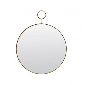 miroir mural rond laiton vintage house doctor loop Pm0150
