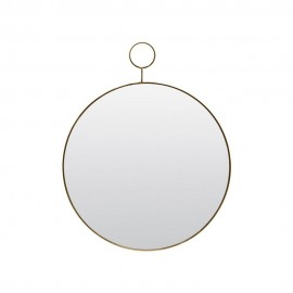 Miroir rond mural rond métal laiton House Doctor The Loop