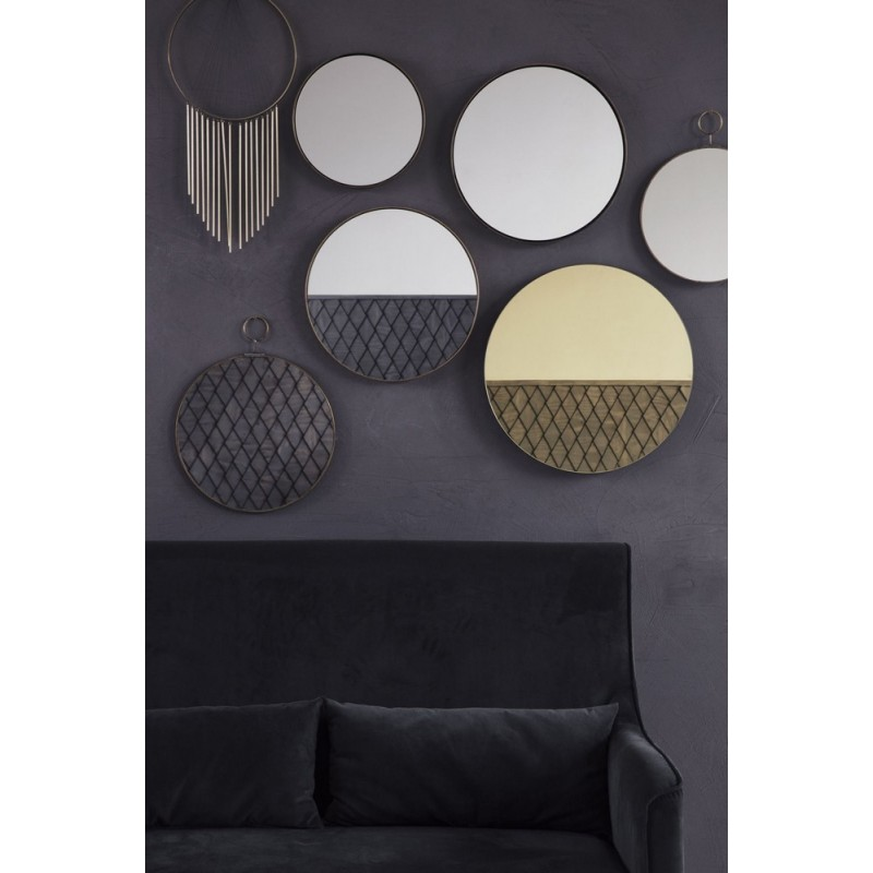 house doctor pm0151 miroir rond mural rond laiton the loop. Black Bedroom Furniture Sets. Home Design Ideas