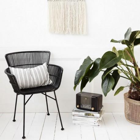 chaise rotin noir avec accoudoirs salle a manger design house doctor He0302