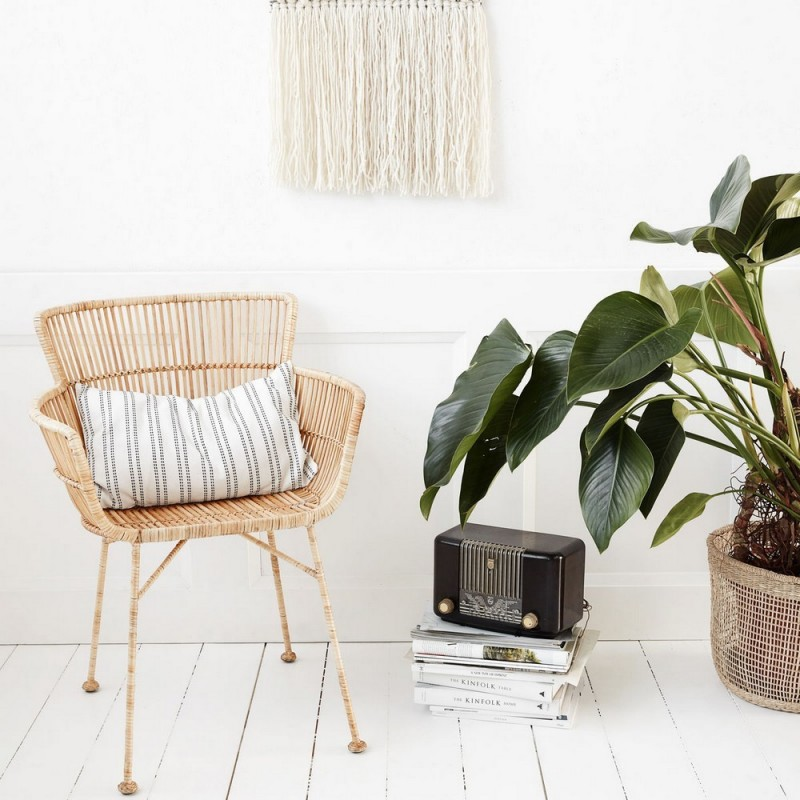 Chaise Avec Accoudoirs Salle A Manger Rotin Naturel House Doctor