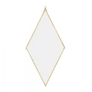 miroir mural losange metal dore laiton madam stoltz