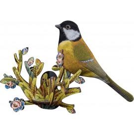Oiseau décoratif mural bois mésange Miho Zoe
