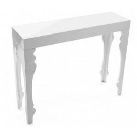 Table console baroque blanche bois laqué Versa