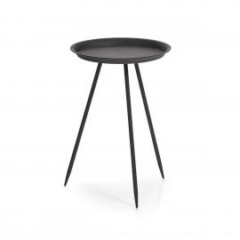 Table basse 3 pieds métal noir Zeller H 44 cm