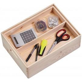 boite de rangement en bois avec compartiments zeller 13321