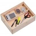 Boîte de rangement en bois avec compartiments Zeller 40 x 30 x 15 cm