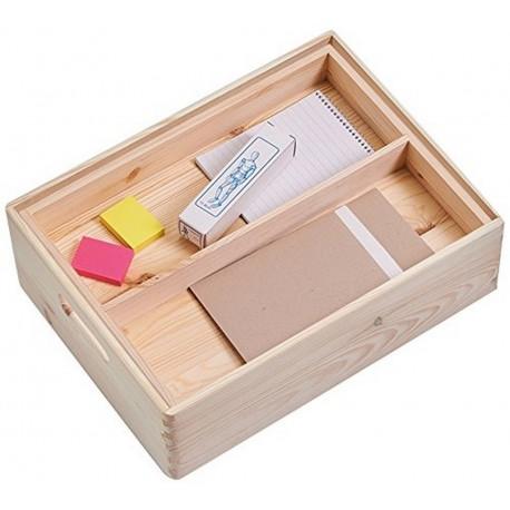 boite de rangement bois compartimentee zeller 13322