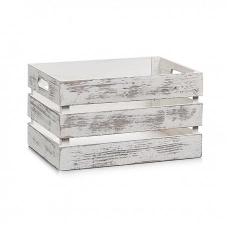 caisse de rangement vintage bois blanc zeller 15131