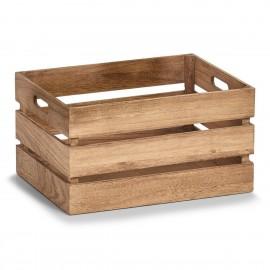 Caisse de bois vintage Zeller 39 x 29 x 21 cm