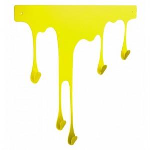 porte-manteaux-mural-jaune-pulpo-drop-l