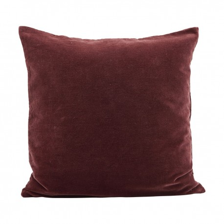 housse de coussin velours rouge rouge henne brule house doctor velv 50 x 50 cm