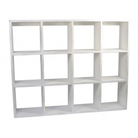 Étagère blanche bois 12 cases IB Laursen