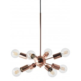 Suspension design 8 bras cuivre brillant Frandsen Mega Junction