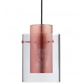 Suspension design cuivre brossé verre fumé Frandsen Cora