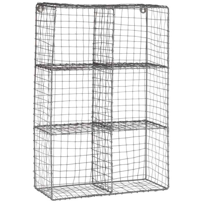 etagere murale metal grillage gris zinc 6 casiers ib laursen 5937 18. Black Bedroom Furniture Sets. Home Design Ideas
