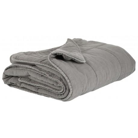 couverture couvre lit grise ib laursen 130 x 180 cm