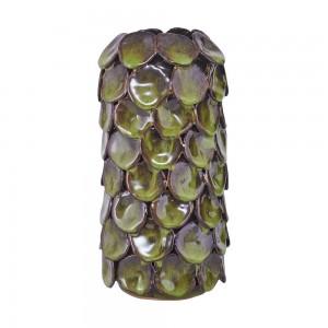vase retro vintage faience emmaillee vert fonce house doctor Ch0502