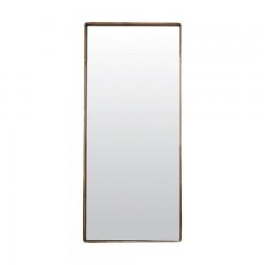 miroir mural rectangulaire metal laiton antique reflection house doctor Fk0100