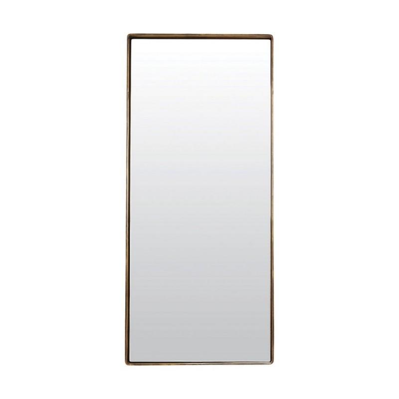 Miroir mural rectangulaire metal laiton antique reflection for Miroir mural metal