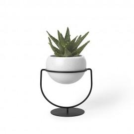 Porte-plantes design à poser ou à suspendre métal noir Umbra Nesta