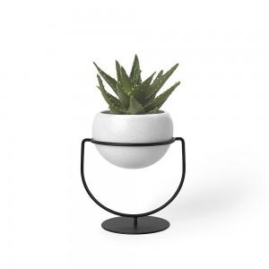 porte plantes design a poser ou a suspendre metal noir 1009251-748