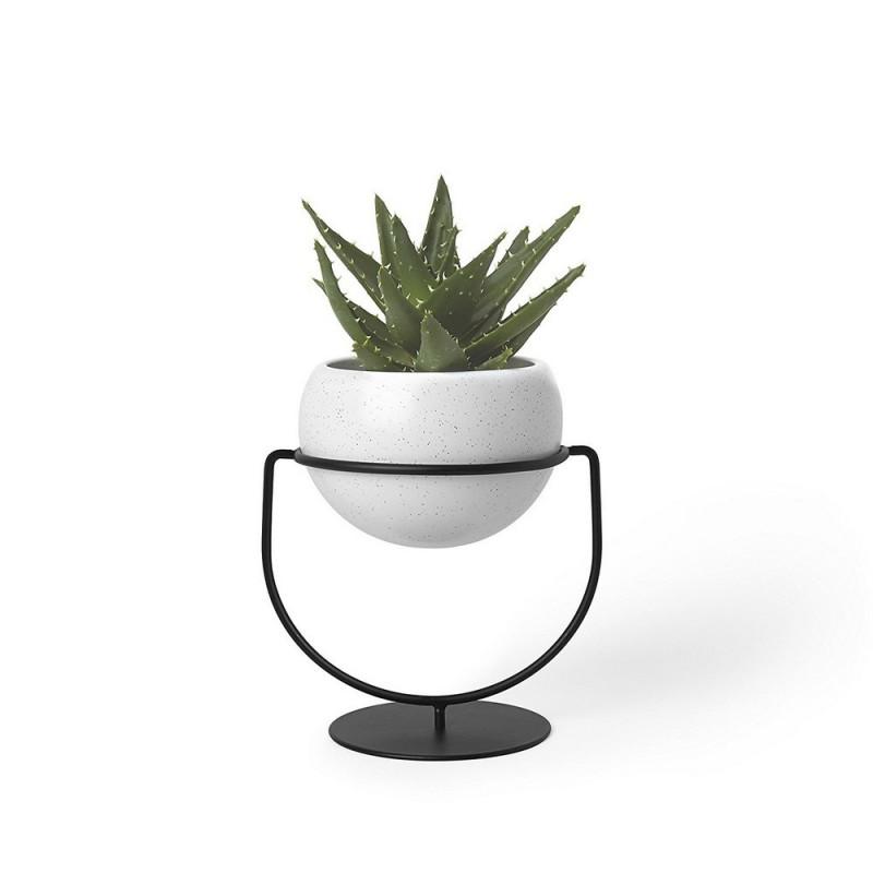 porte plantes design a poser ou a suspendre metal noir. Black Bedroom Furniture Sets. Home Design Ideas