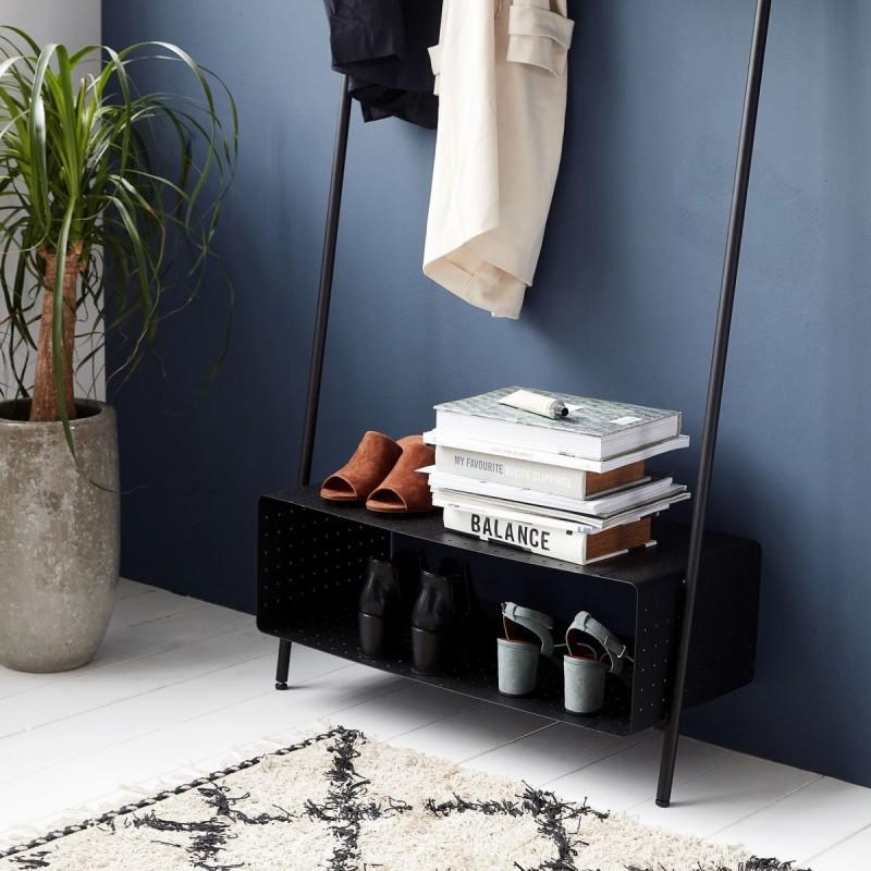 portemanteau design a poser metal noir house doctor rack ways pj0800. Black Bedroom Furniture Sets. Home Design Ideas