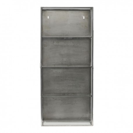 vitrine etagere murale vintage metal verre house doctor cabinet zinc Cb0762