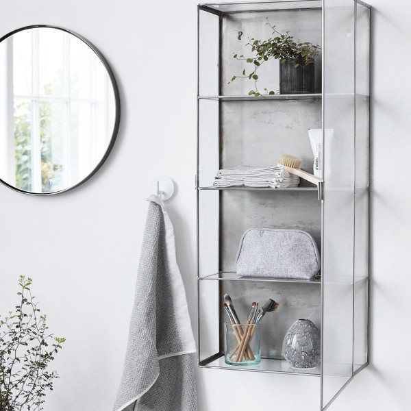 vitrine etagere murale vintage metal verre house doctor cabinet zinc cb0762. Black Bedroom Furniture Sets. Home Design Ideas