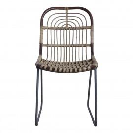 Chaise rotin tressé métal rétro House Doctor Kawa