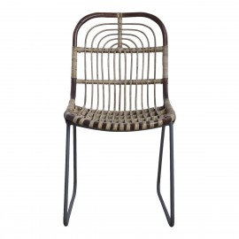 Chaise rotin tressé métal House Doctor Kawa