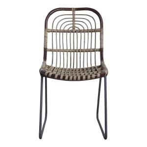 chaise rotin tresse metal house doctor kawa Id0980