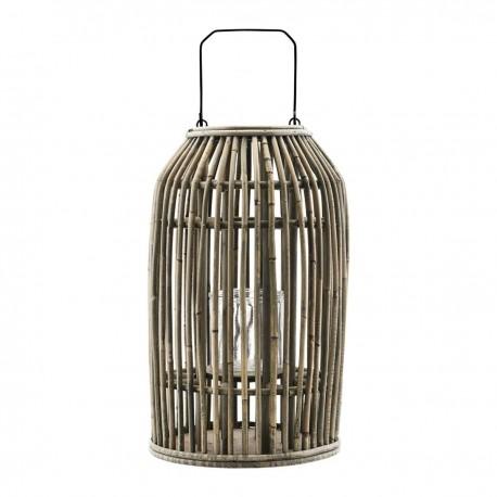 Lanterne en rotin naturel House Doctor Ova H 42 cm