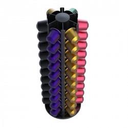 Distributeur capsules nespresso rotatif noir