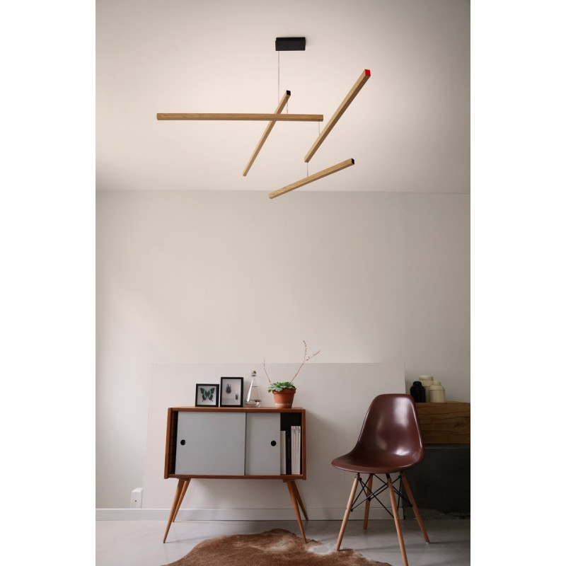 Lampe suspension mobile en bois presse citron tasso clown for Lampe suspension en bois