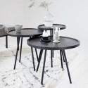 table basse ronde bois de manguier juco house doctor H 55 cm