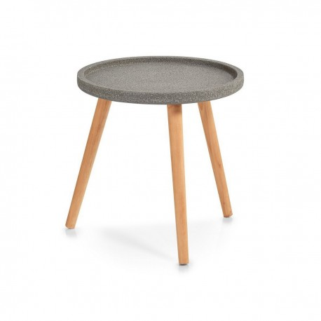 Table basse ronde bois de pin Zeller Concrete D 40 cm