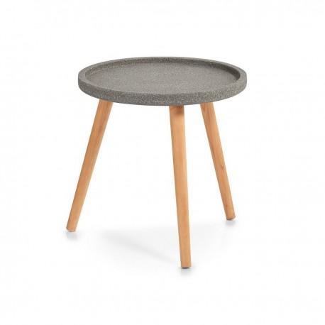 table basse ronde bois pin zeller concrete 17000