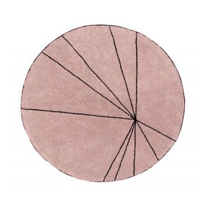 Tapis rond Lorena Canals Trace vintage nude 160 cm