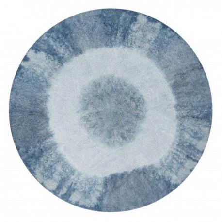 Tapis rond lavable Lorena Canals Tie-Dye Vintage bleu 160 cm