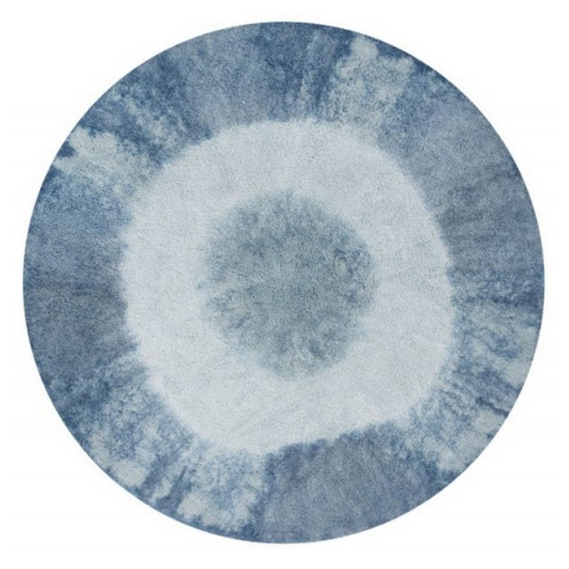 tapis rond lavable lorena canals tie dye vintage bleu 160. Black Bedroom Furniture Sets. Home Design Ideas