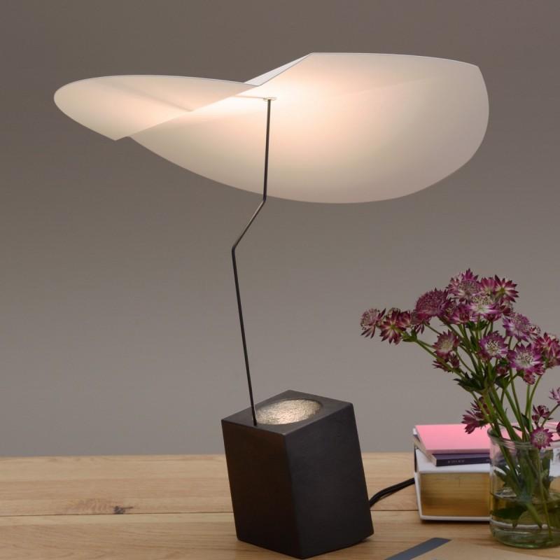 lampe a poser presse citron ekil blanc ekbl. Black Bedroom Furniture Sets. Home Design Ideas