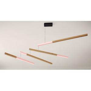 Luminaire suspension bois Presse Citron Tasso Nez rose