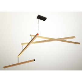 Lampe suspension mobile design bois Presse Citron Tasso Clown